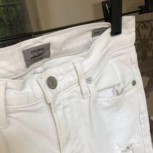 COH White Frayed Jeans